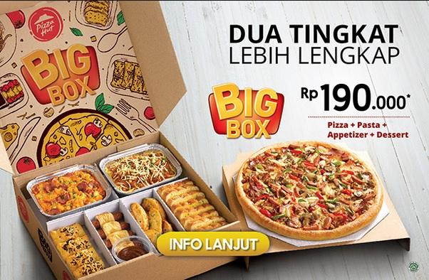 harga Pizza hut big box dan gambar