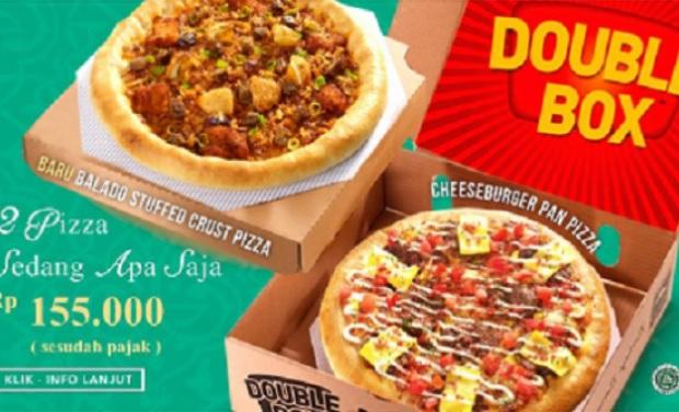 harga Pizza hut double box terbaru dan gambarnya