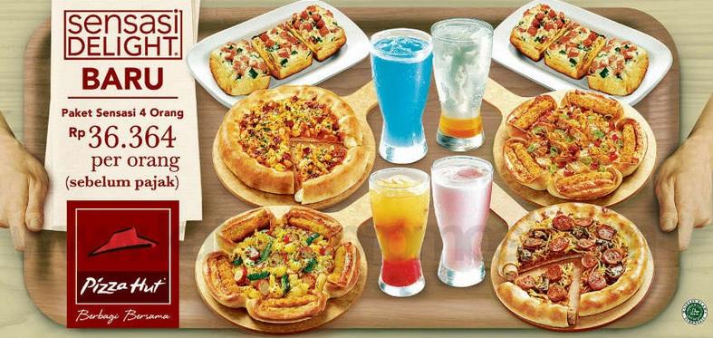 paket Sensasi menu Delight 4 orang