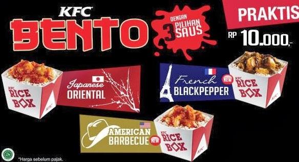 paket menu French Black Pepper Bento 10rb