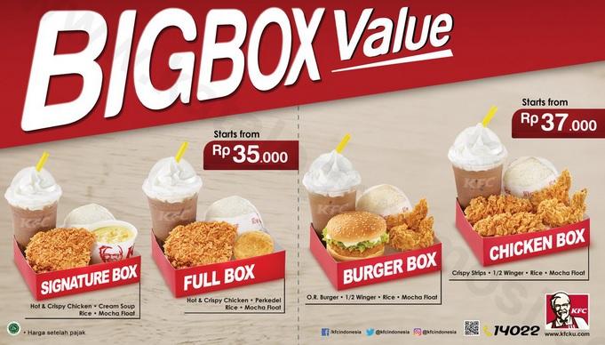 Paket menu KFC
