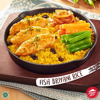 menu Fish Biryani Rice Pizza Hut